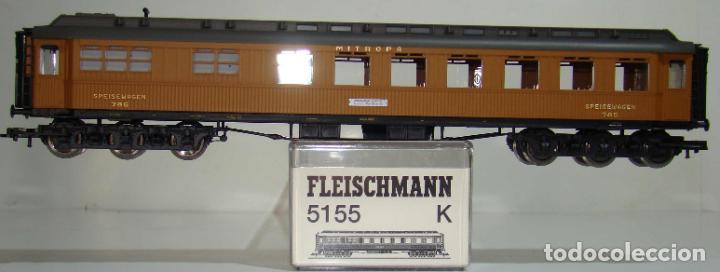 FLEISCHMANN COCHE PASAJEROS MITROPA SPEISEWAGEN 785 REF: 5155 ESCALA H0 (Juguetes - Trenes Escala H0 - Fleischmann H0)
