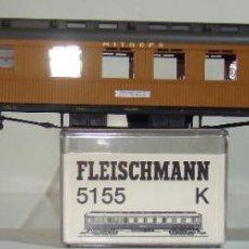 Trenes Escala: FLEISCHMANN COCHE PASAJEROS MITROPA SPEISEWAGEN 785 REF: 5155 ESCALA H0. Lote 245915230