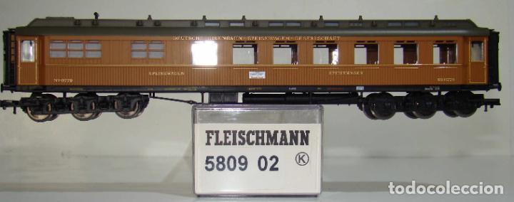 FLEISCHMANN COCHE RESTAURANTE 6 EJES, TIPO WR 6Ü DE DESG. REF: 580902 ESCALA H0 (Juguetes - Trenes Escala H0 - Fleischmann H0)