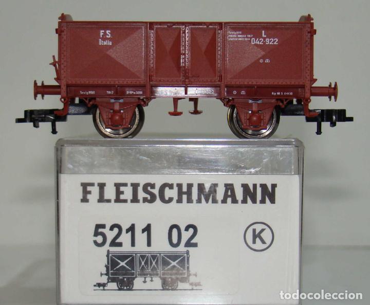 FLEISCHMANN VAGON ABIERTO TIPO O DE LA FS REF: 521102 ESCALA H0 (Juguetes - Trenes Escala H0 - Fleischmann H0)