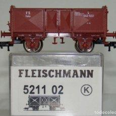 Trenes Escala: FLEISCHMANN VAGON ABIERTO TIPO O DE LA FS REF: 521102 ESCALA H0. Lote 245963350