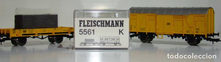 FLEISCHMANN SET DE DOS VAGONES REF: 5561 ESCALA H0 (Juguetes - Trenes Escala H0 - Fleischmann H0)