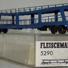 Trenes Escala: FLEISCHMANN VAGON PORTA COCHES DE LA DB REF: 5290 ESCALA H0. Lote 246001655