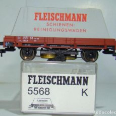 Trenes Escala: FLEISCHMANN VAGON LIMPIA VIAS REF: 5568 ESCALA H0. Lote 248477955