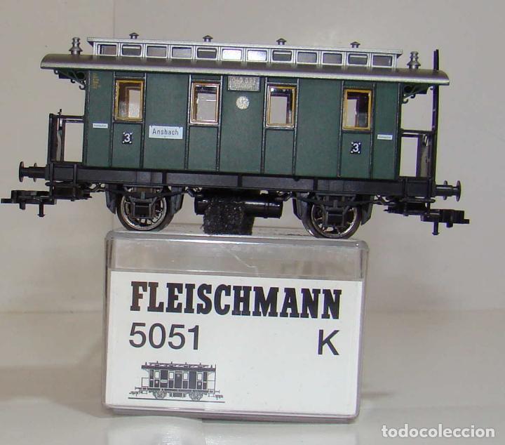 FLEISCHMANN VAGON PASAJEROS 3ª CLASE DE LA DRG REF: 5051 ESCALA H0 (Juguetes - Trenes Escala H0 - Fleischmann H0)
