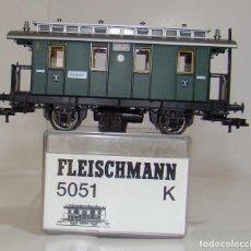 Trenes Escala: FLEISCHMANN VAGON PASAJEROS 3ª CLASE DE LA DRG REF: 5051 ESCALA H0. Lote 248636405