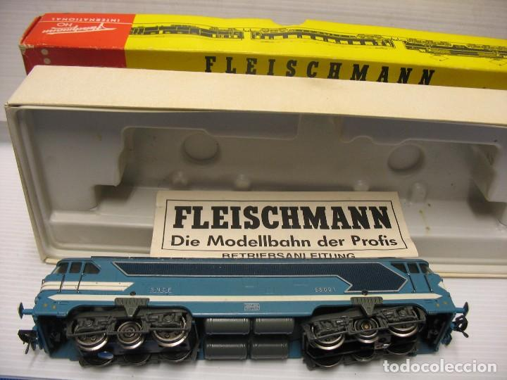 LOCOMOTORA FLEISCHMANN AÑO 1952 ESCALA H0 (Juguetes - Trenes Escala H0 - Fleischmann H0)