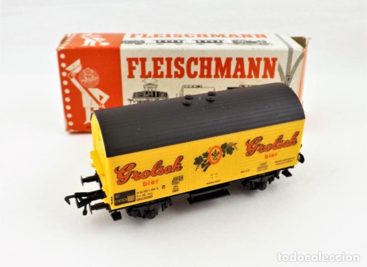 FLEISCHMANN 5045 VAGON CARGA CERVEZA (Juguetes - Trenes Escala H0 - Fleischmann H0)