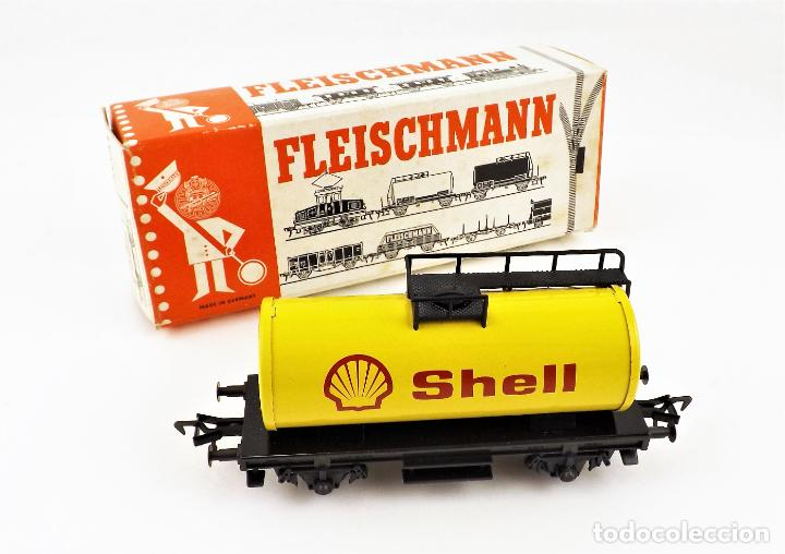 FLEISCHMANN 5031 VAGON CISTERNA SHELL (Juguetes - Trenes Escala H0 - Fleischmann H0)