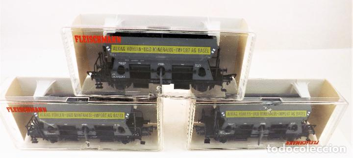 Trenes Escala: Fleischmann 5511+ 5511+5511 conjunto de tres vagones tolva - Foto 2 - 253340020