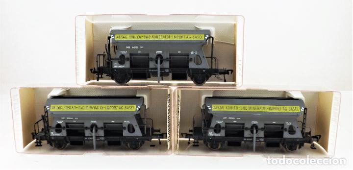 Trenes Escala: Fleischmann 5511+ 5511+5511 conjunto de tres vagones tolva - Foto 3 - 253340020