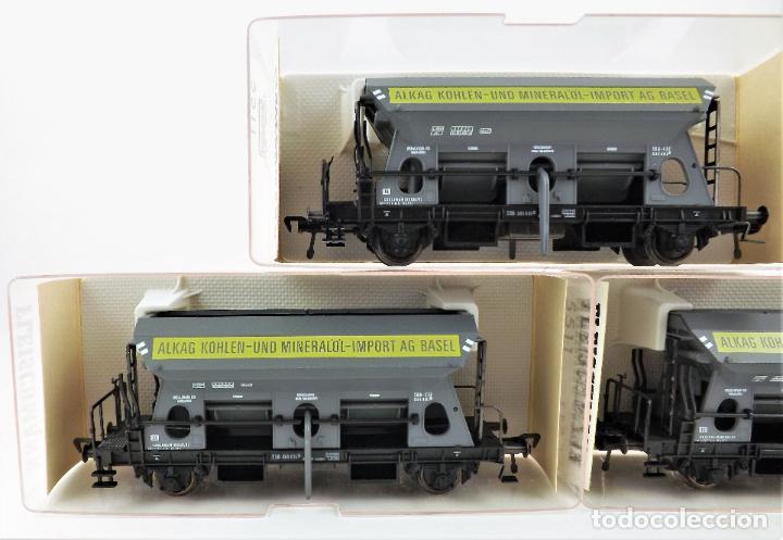 Trenes Escala: Fleischmann 5511+ 5511+5511 conjunto de tres vagones tolva - Foto 4 - 253340020