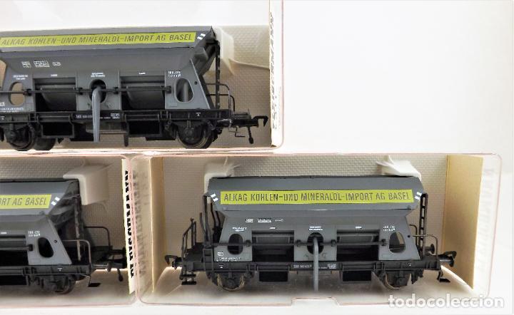 Trenes Escala: Fleischmann 5511+ 5511+5511 conjunto de tres vagones tolva - Foto 5 - 253340020