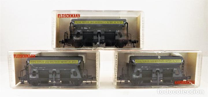 FLEISCHMANN 5511+ 5511+5511 CONJUNTO DE TRES VAGONES TOLVA (Juguetes - Trenes Escala H0 - Fleischmann H0)