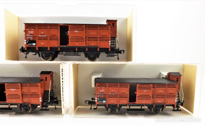 Trenes Escala: Fleischmann 5356+ 5356+5356 conjunto de tres vagones carga cerrados - Foto 5 - 253340145