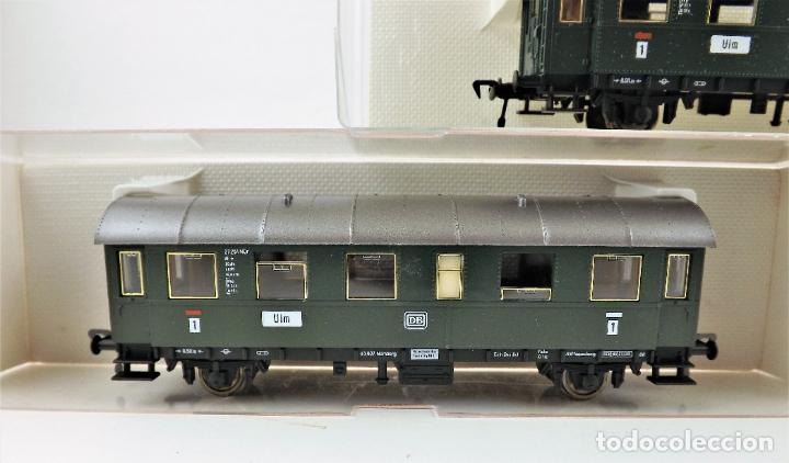 Trenes Escala: Fleischmann 5061+5061+5091 conjunto de tres coches pasajeros - Foto 2 - 253340485