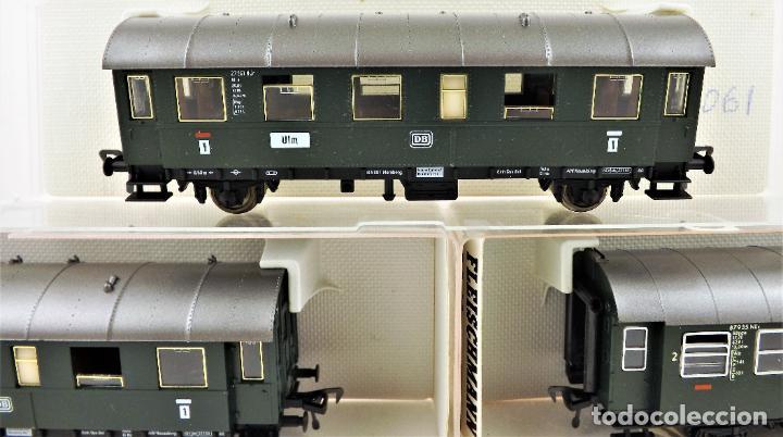 Trenes Escala: Fleischmann 5061+5061+5091 conjunto de tres coches pasajeros - Foto 3 - 253340485