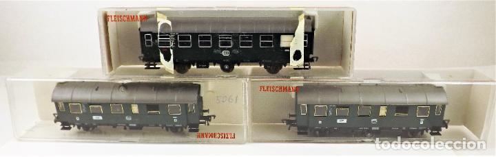 Trenes Escala: Fleischmann 5061+5061+5091 conjunto de tres coches pasajeros - Foto 5 - 253340485