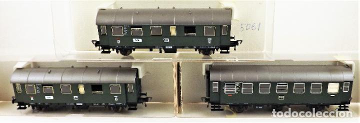 FLEISCHMANN 5061+5061+5091 CONJUNTO DE TRES COCHES PASAJEROS (Juguetes - Trenes Escala H0 - Fleischmann H0)