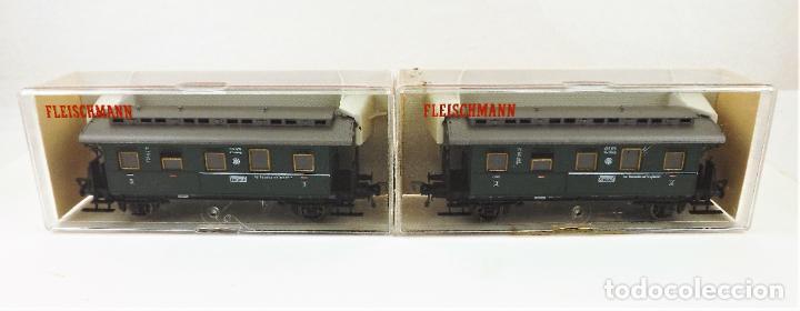 Trenes Escala: Fleischmann 5067+5067 conjunto de dos coches pasajeros - Foto 4 - 253340745