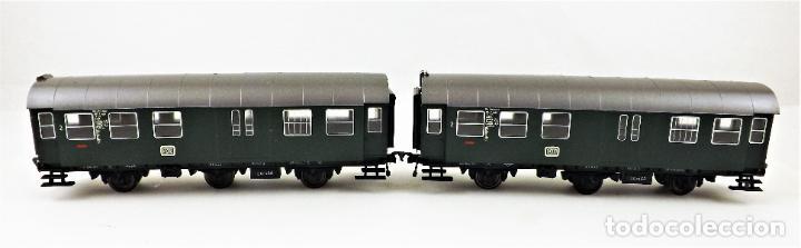 Trenes Escala: Fleischmann 5090+5090 conjunto de dos coches pasajeros DB - Foto 2 - 253341020