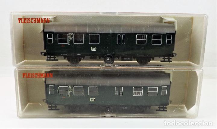 Trenes Escala: Fleischmann 5090+5090 conjunto de dos coches pasajeros DB - Foto 3 - 253341020