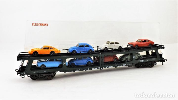 Trenes Escala: Fleischmann 5285 Vagón autoexpreso con 8 coches - Foto 4 - 254168300
