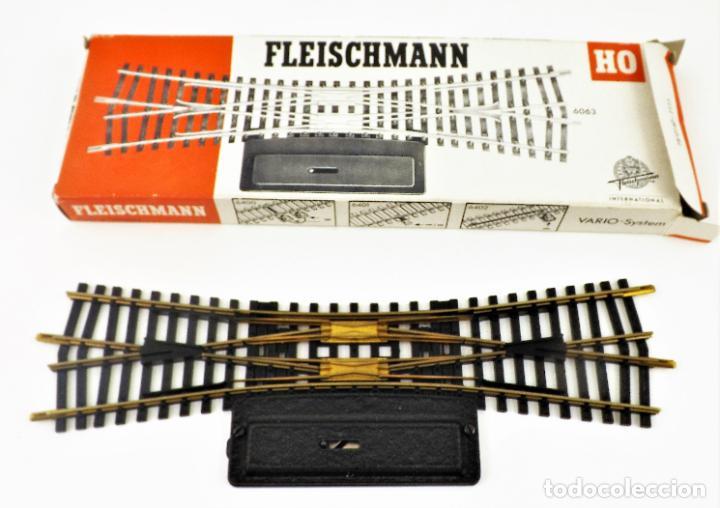FLEISCHMANN 6063 CRUCE CAMBIO DE VÍAS. HO DC (Juguetes - Trenes Escala H0 - Fleischmann H0)