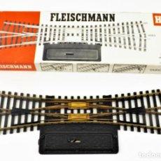 Trenes Escala: FLEISCHMANN 6063 CRUCE CAMBIO DE VÍAS. HO DC. Lote 254580815