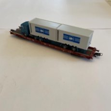 Trenes Escala: FLEISCHMANN. HO. REF 5271. PLATAFORMA TRANSPORTE PESASO. Lote 255322070