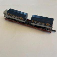 Trenes Escala: FLEISCHMANN. HO. REF 5271. PLATAFORMA TRANSPORTE PESASO. Lote 255322360