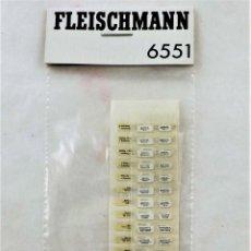 Trenes Escala: FLEISCHMANN 6551 PEGATINAS PARA COCHES DE PASAJEROS. ORIGINAL H0. Lote 255922160