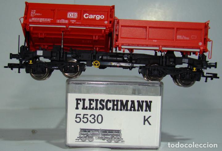 Trenes Escala: FLEISCHMANN VAGON BASCULANTE DB CARGO REF: 5530 ESCALA H0 - Foto 2 - 256023005