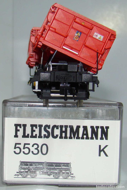 Trenes Escala: FLEISCHMANN VAGON BASCULANTE DB CARGO REF: 5530 ESCALA H0 - Foto 3 - 256023005