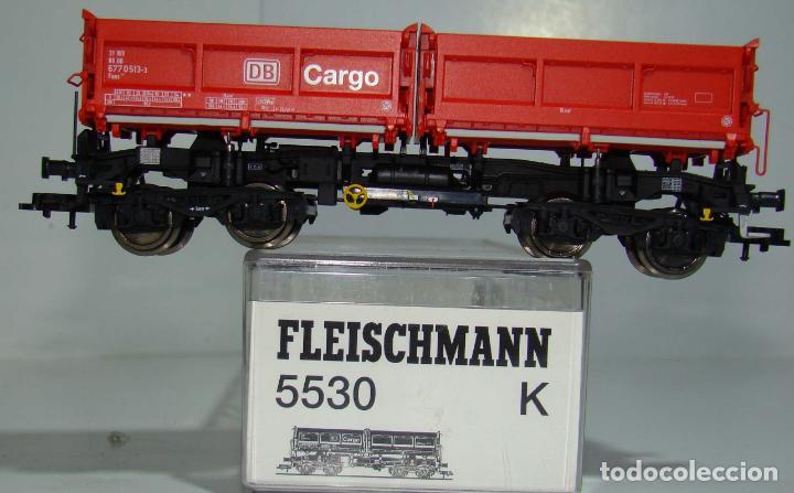 FLEISCHMANN VAGON BASCULANTE DB CARGO REF: 5530 ESCALA H0 (Juguetes - Trenes Escala H0 - Fleischmann H0)