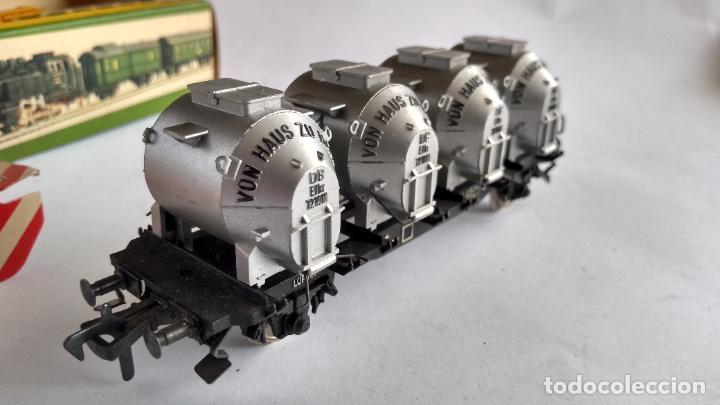 Trenes Escala: FLEISCHMANN H0, VAGÓN CARGA TOLVAS, CON CAJA. VÁLIDO IBERTREN,ROCO, ETC - Foto 2 - 262068700
