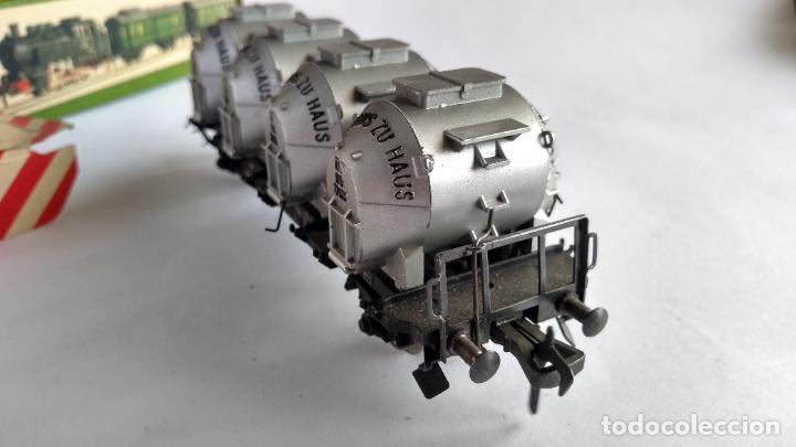 Trenes Escala: FLEISCHMANN H0, VAGÓN CARGA TOLVAS, CON CAJA. VÁLIDO IBERTREN,ROCO, ETC - Foto 4 - 262068700