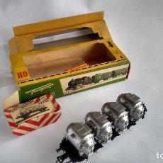 Trenes Escala: FLEISCHMANN H0, VAGÓN CARGA TOLVAS, CON CAJA. VÁLIDO IBERTREN,ROCO, ETC. Lote 262068700