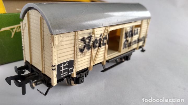 Trenes Escala: FLEISCHMANN H0, VAGÓN CARGA, CON CAJA. VÁLIDO IBERTREN,ROCO, ETC - Foto 2 - 262094545