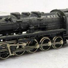 Trenes Escala: LOCOMOTORA VAPOR CON TENDER FLEISCHMANN H0 SNFC REF 4178 FUNCIONA. Lote 268409974