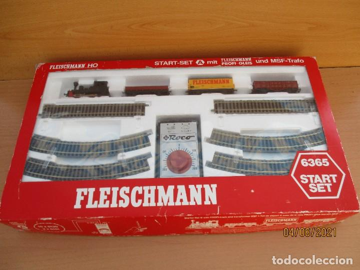 FLEISCHMAN CAJA DE INICIO Nº 6365 COMO NUEVA CAJA ALGUN ROCE VER FOTOS (Juguetes - Trenes Escala H0 - Fleischmann H0)