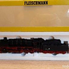 Trenes Escala: FLEISCHMANN H0 LOCOMOTORA VAPOR BR 50, DE LA DRG, REFERENCIA 4182 ANALÓGICA DC.. Lote 269491603