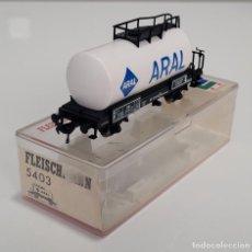 "Trenes Escala: FLEISCHMANN H0 5403- VAGÓN CISTERNA ""ARAL"". Lote 270140508"
