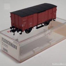 Trenes Escala: FLEISCHMANN H0 5350- VAGÓN CERRADO ROJO. Lote 270142108