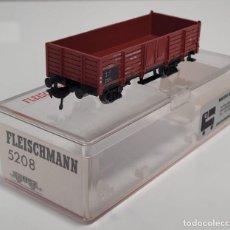 Trenes Escala: FLEISCHMANN H0 5208- VAGÓN BORDES ALTOS ROJO. Lote 270142623