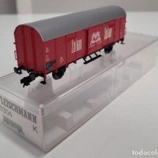"""Trenes Escala: FLEISCHMANN H0 5304- VAGÓN MERCANCÍAS CERRADO """"ZUBAN CIGARETTEN"""". Lote 270145083"""