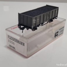 Trenes Escala: FLEISCHMANN H0 5206- VAGÓN MERCANCÍAS BORDES ALTOS GRIS. Lote 270145593
