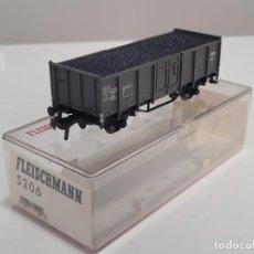 Trenes Escala: FLEISCHMANN H0 5206- VAGÓN MERCANCÍAS BORDES ALTOS GRIS. Lote 270145983
