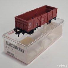 Trenes Escala: FLEISCHMANN H0 5502- VAGÓN MERCANCÍAS BORDES ALTOS ROJO. Lote 270148383