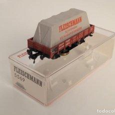 Trenes Escala: FLEISCHMANN H0 5569- VAGÓN LIMPIA VÍAS. Lote 270148738